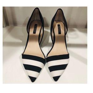Zara Stripe Heels